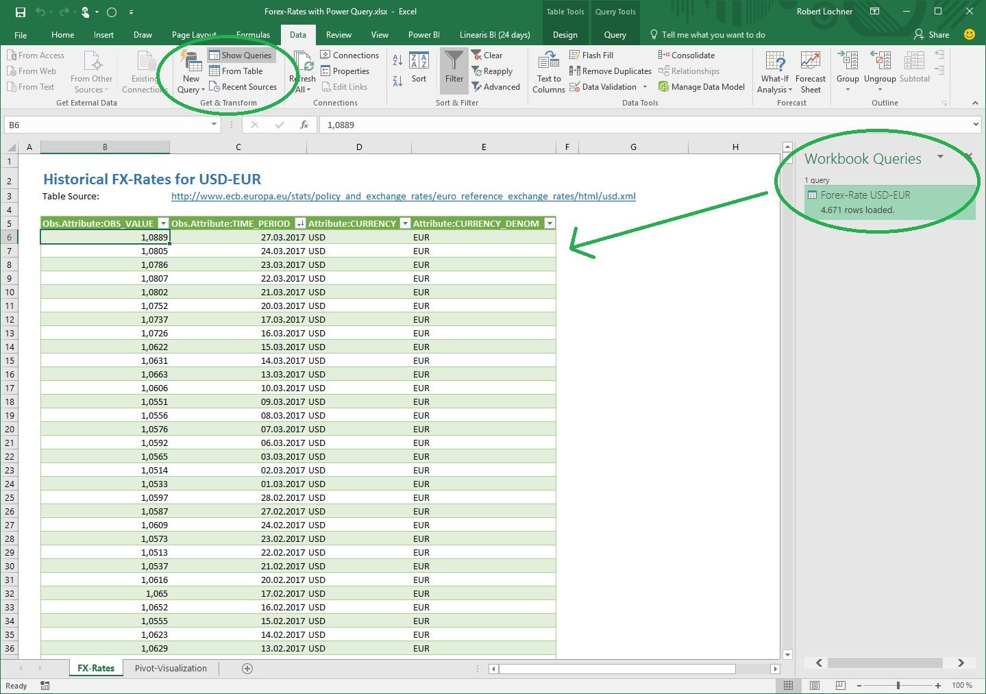 Power Query Wechselkursabfrage mit TABLE.Manager nach SQL Server ...