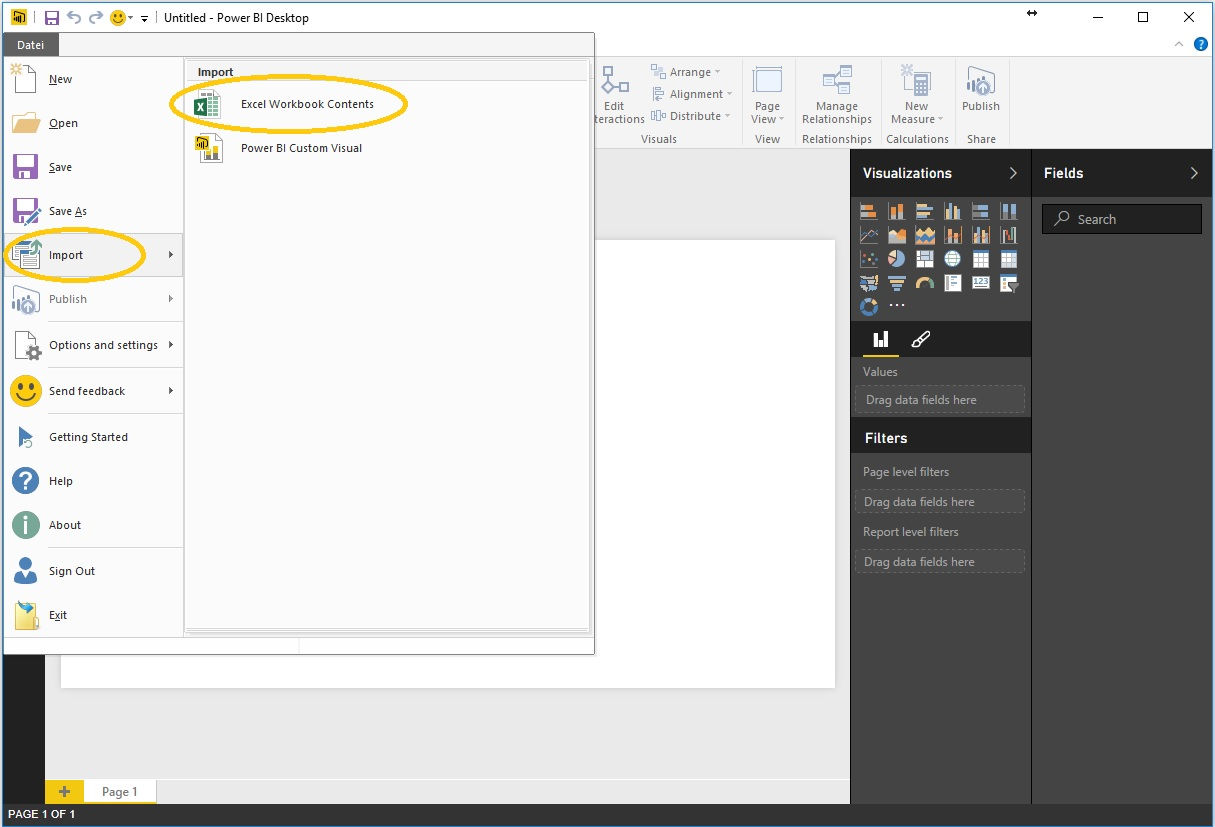 1. Import to Power BI Desktop