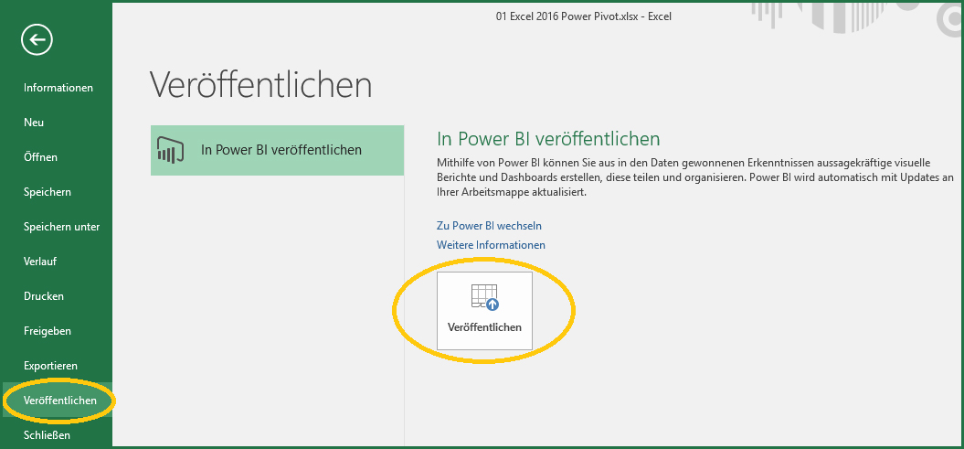 2. Publish to Power BI