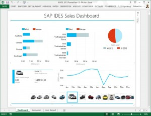 SAP-IDES PowerView Dashboard
